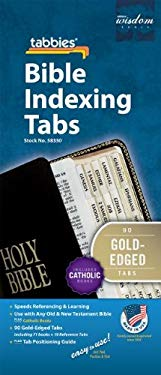 Bible Tab: Clear Tab with Gold Center Strip & Black Lettering 9789900493303