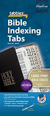 Old and New Testament Including Catholic Books Bible Tabs [With Booklet]