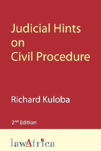 Judicial Hints on Civil Procedure 2nd Ed 9789966703408