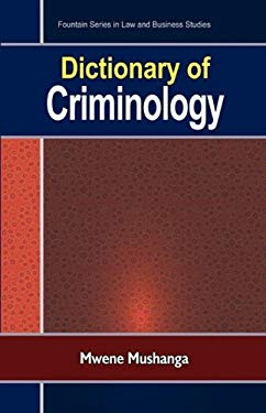 Dictionary of Criminology 9789970027200